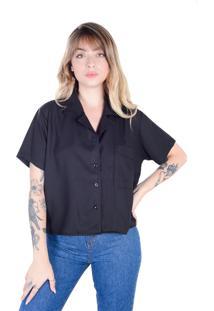 Camisa Mariah Preta (, Gg)