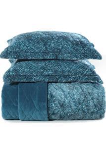 Jogo De Colcha Casal Blend Fashion Signa Azul