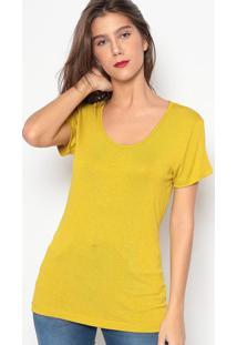 Blusa Com Bordado- Verde Limão- Colccicolcci