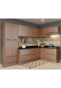Cozinha Completa Multimóveis Com 12 Peças Calábria 5462R Nogueira