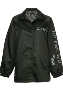 Alexander Wang Chrome Detail Coach Jacket - Preto