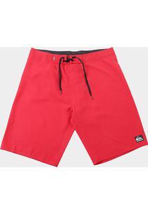 Boardshort Quiksilver Manic Solid Masculino - Masculino-Vermelho Claro
