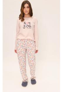 Pijama Feminino Comfort Mon Cheri Lua Luá Estampado - Kanui