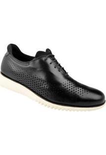 Sapato Casual Couro Constantino Masculino - Masculino-Preto