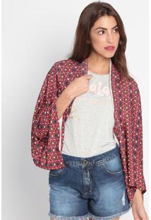 Kimono Canelado - Vermelha & Azul- My Favorite Thingmy Favorite Things