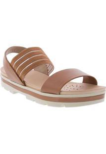 Sandália Modare Ultraconforto Plataforma Caramelo