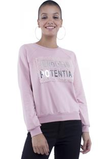 Blusa Moletom Endless Potential Pop Me Rosa