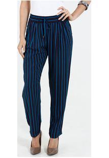 Calça Feminina Pijama Listrada Marisa