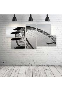 Quadro Decorativo - London-Eye - Composto De 5 Quadros - Multicolorido - Dafiti
