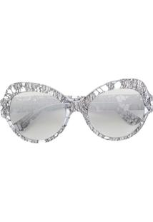 ce9646945b86e ... Dolce   Gabbana Eyewear Óculos De Sol Redondo - Metálico