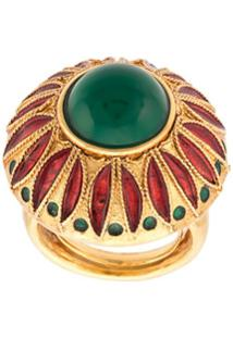 Oscar De La Renta Anel Peacock - Dourado