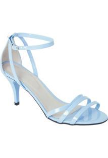 Sandália Azul Com Fivela