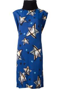 Marni Vestido Estampado - Azul
