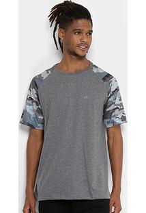 Camiseta Wg Especial Raglan Camo Masculina - Masculino