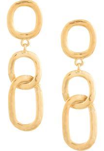 Kenneth Jay Lane Chain Pendant Earrings - Dourado