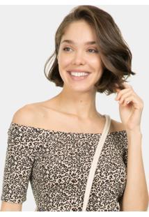 Blusa Ombro A Ombro Estampa Jaguar - Lez A Lez