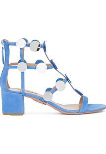 Aquazzura Sandália Gladiadora De Camurça - Azul