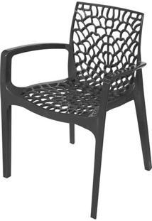 Cadeira Gruver Com Braco Polipropileno Preto - 30473 - Sun House