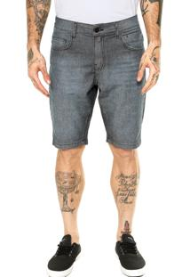 Bermuda Jeans Quiksilver Walk Gray Sequel Azul