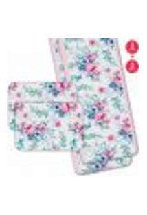 Jogo Americano Com Caminho De Mesa Wevans Floral Premium Kit Com 2 Pçs + 2 Trilhos