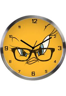 Relógio De Parede Urban Looney Tunes Tweety Big Face Amarelo