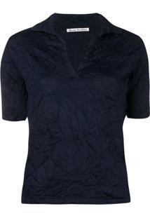 a0a56ae87b094 ... Acne Studios Camisa Polo Karmina - Azul