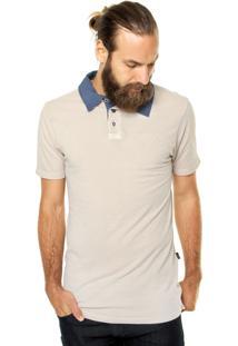 Camisa Polo Triton Piquet Recortes Bege
