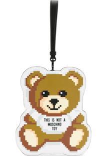 Moschino Clutch Toy Bear - Marrom