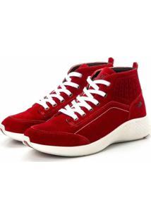 Coturno Tênis Casual Jhon Boots Clássico Vermelho