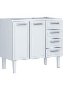 Gabinete Para Cozinha 120Cm Aço Apolo Flat Branco 117,2X91X50Cm - Cozimax - Cozimax