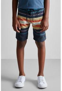 Bermuda Masculina Infantil De Praia Pf Mini Est Por Do Sol Reserva Mini - Masculino
