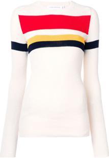 Victoria Beckham Blusa Com Contraste - Branco