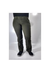 Calça Feminina Rarus Jeans Flair Verde
