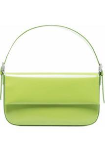 By Far Manu Leather Shoulder Bag - Verde