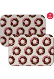 Jogo Americano Love Decor Donuts Cinza Claro