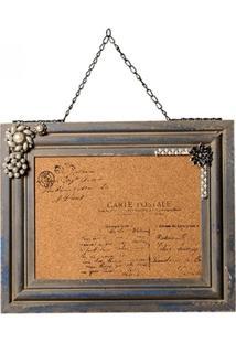 Quadro Decorativo De Recados Carte Postale - Unissex