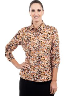 Camisa Love Poetry Estampada Laranja