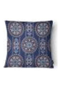Capa Para Almofada Mandala Cetim 43X43Cm Azul,Vermelho