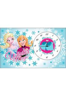 Relógio De Mesa - Disney Frozen - Azul - Euroswan