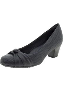 f2d1e44ad1 Clóvis Calçados. Peep Toe Com Salto Baixo Preto Piccadilly Conforto Sapato  Feminino ...