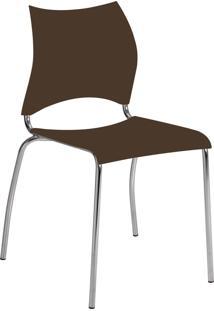 Kit 2 Cadeiras 357 Móveis Carraro Marrom