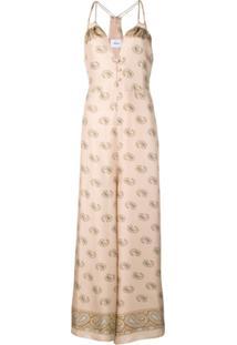 Nanushka Vestido Longo Com Estampa Paisley - Neutro