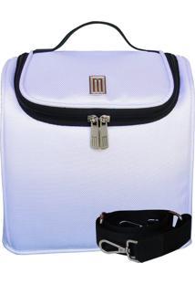 Bolsa Térmica Fitness Nylon Poliéster Branco Perugia
