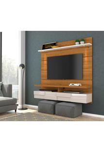 Painel Para Tv Até 60 Polegadas Lana 1.6 Naturale E Off White