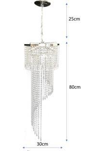 Lustre Pendente De Cristal Acrílico Lina Design 30X105 Ac04