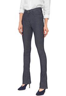 Calça Jeans Dudalina Bootcut Listrada Azul