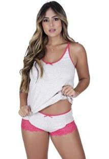 Short Doll Doçura Algodão Concept Lingerie Feminino - Feminino-Pink