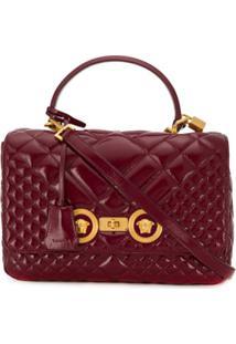 Versace Bolsa Tiracolo Icon Média - Vermelho