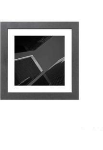 Quadro Decorativo Sky And Buildings 23X23Cm Cinza Infinity