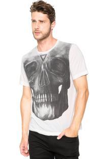 Camiseta Cavalera Caveira Branco